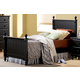 Homelegance Pottery Twin Poster Bed in Black 875T-1