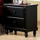 Homelegance Pottery Nightstand in Black 875-4