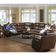 Catnapper Dallas Power Recline Sectional Living Room Set in Tobacco