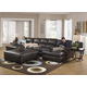 Jackson Lawson 3pc (LSF Chaise-Armless Sofa-RSF Chaise) Sectional Living Room Set in Godiva