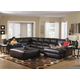 Jackson Lawson 3pc (LSF Section-Armless Sofa-RSF Chaise) Sectional Living Room Set in Godiva