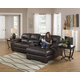 Jackson Lawson 3pc (LSF Loveseat-Console w/ Entertainment-RSF Chaise) Sectional Living Room Set Option C in Godiva