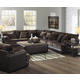 Jackson Barkley 4-PC Sectional Living Room Set in Chocolate