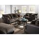 Jackson Barkley Living Room Set in Walnut