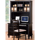 Homelegance Pottery Computer Desk and Hutch Set in Black 875-10;875-11