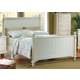Homelegance Pottery Full Panel Bed in White 875FW-1
