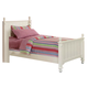 Homelegance Pottery Twin Panel Bed in White 875TW-1