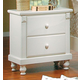 Homelegance Pottery Nightstand in White 875W-4
