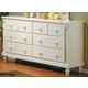 Homelegance Pottery Dresser in White 875W-5
