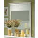 Homelegance Pottery Mirror in White 875W-6