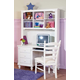 Homelegance Pottery Computer Desk and Hutch Set in White