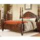 Homelegance Prenzo Queen Poster Bed in Warm Brown 1390-1