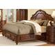 Homelegance Prenzo California King Mansion Bed in Warm Brown 1390LPK-1CK
