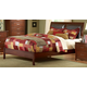 Homelegance Rivera Queen Sleigh Bed in Warm Brown Cherry 1440PU-1