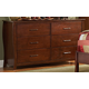 Homelegance Rivera Dresser in Warm Brown Cherry 1440-5