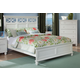 Homelegance Sanibel Queen Panel Bed in White 2119W-1