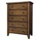 Aspenhome Cross Country Chest in Saddle Brown IMR-456