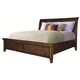 Aspenhome Cross Country Queen Sleigh Storage Bed in Saddle Brown
