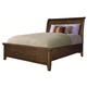 Aspenhome Cross Country Twin Sleigh Storage Bed in Saddle Brown