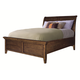 Aspenhome Cross Country Twin Sleigh Bed in Saddle Brown