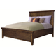 Aspenhome Cross Country Twin Panel Bed in Saddle Brown