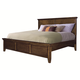 Aspenhome Cross Country California King Panel Bed in Saddle Brown