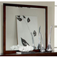 Homelegance Simpson Mirror in Brown Cherry 2134-6