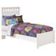 Lulu Twin Panel Bed in White
