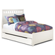 Lulu Full Panel Bed with Trundle Under Bed Storage in White