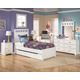 Lulu 4-Piece Panel Bedroom Set with Trundle Under Bed Storage in White