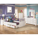 Lulu 4-Piece Bedroom Set with Trundle Frame and Drawer Box in White