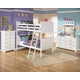 Lulu 4-Piece Bunk Bedroom Set in White