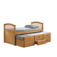 Acme San Marino Full Captain Storage Bed with Trundle in Maple 08933