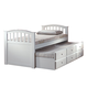 Acme San Marino Full Captain Storage Bed with Trundle in White 09143