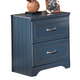 Leo Nightstand in Blue