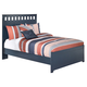 Leo Full Panel Bed in Blue