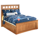 Benjamin Full Panel Bed with Under Bed Storage in Brown