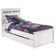 Zayley Twin Panel Bed with Under Bed Storage in White