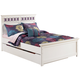 Zayley Full Panel Bed with Under Bed Storage in White CLEARANCE
