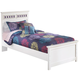 Zayley Twin Panel Bed in White