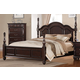 Homelegance Townsford California King Poster Bed in Dark Cherry 2124K-1CK