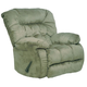 Catnapper Teddy Bear Chaise Rocker Recliner in Sage 4517-2
