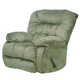 Catnapper Teddy Bear Chaise Swivel Glider Recliner in Sage 4517-5