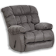 Catnapper Teddy Bear Chaise Swivel Glider Recliner in Graphite 4517-5