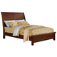 Acme Urbana Queen Sleigh Platform Bed in Walnut 10220Q