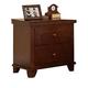 Acme Urbana 2-Drawer Nightstand in Walnut 10223