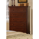 Acme Urbana 5-Drawer Chest in Walnut 10226