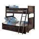 Embrace Twin/Full Bunk Bed with Under Bed Storage in Merlot