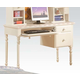 Acme Zoe Student Desk in White with Pink Striped Details 11045