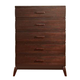 Acme Adel 5-Drawer Chest in Espresso 11206